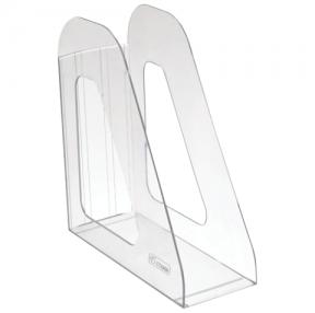 Лоток вертикальный для бумаг СТАММ «Фаворит», ширина 90 мм, прозрачный