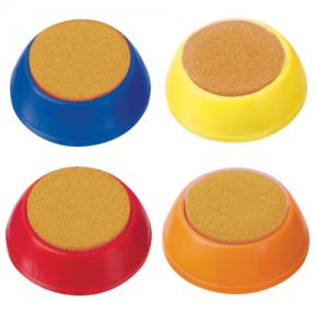 Губка для кассира СТАММ круглая, ассорти (235811)