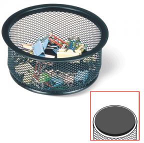 """Подставка-органайзер BRAUBERG """"Germanium"""", металлическая, кругл. основан, 50х95мм, черная"""