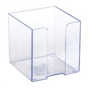 Подставка для бумажного блока СТАММ пластиковая, 90×90×90 мм
