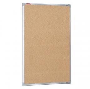 Доска пробковая для объявлений 100×60 см, металлическая рамка, BOARDSYS (231697)