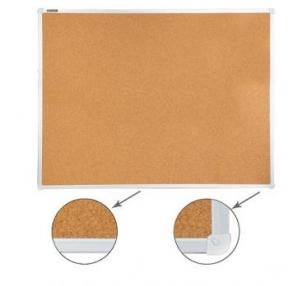 Доска пробковая для объявлений (90×120 см), алюминиевая рамка,  РОССИЯ, BRAUBERG (236445)