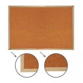Доска пробковая для объявлений (90×120 см), деревянная рамка, РОССИЯ, BRAUBERG (236861)