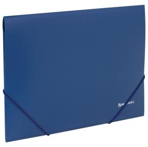 Папка на резинках BRAUBERG, стандарт, синяя, до 300 листов, 0,5 мм (221623)