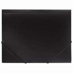 Папка на резинках BRAUBERG Contract, черный, до 300 листов, 0,5 мм, бизнес-класс (221796)