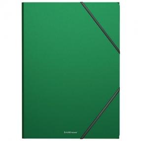 Папка на резинках ERICH KRAUSE Classic, А4, до 300 листов, 400 мкм, зеленая (227672)