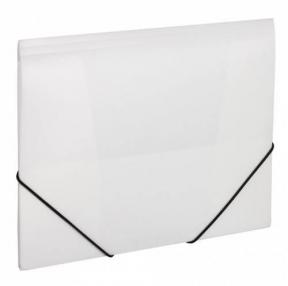 Папка на резинках BRAUBERG Office, белая, до 300 листов, 500 мкм (228080)