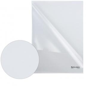 Папка-уголок жесткая BRAUBERG, прозрачная, 0,15 мм (221641)