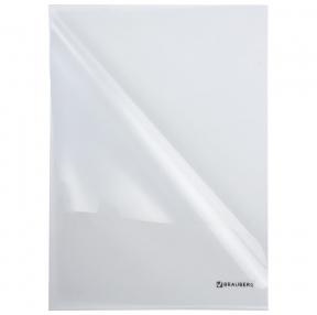 Папка-уголок BRAUBERG, прозрачная, 0,10 мм (223966)