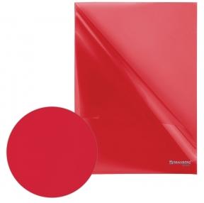 Папка-уголок BRAUBERG, красная 0,10 мм (223967)