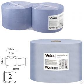 Бумага протирочная VEIRO (Система W1), комплект 2 шт., 1000 л в рулоне, 24×35 см, 2-слойная, Comfort, W201 (127103)