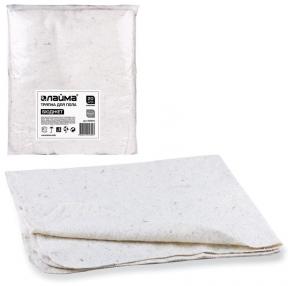 Тряпки для мытья пола ХПП, 80×100 см, Комплект 20 шт., 190 г/м2, 80% хлопок, 20% полиэфир, Лайма бюджет (600842)