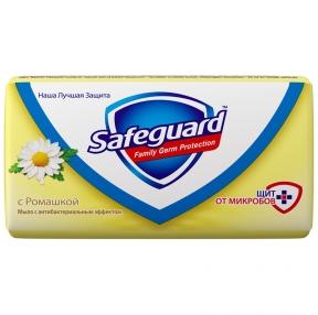 Мыло туалетное антибактериальное, 90 г, SAFEGUARD, Ромашка (262218)