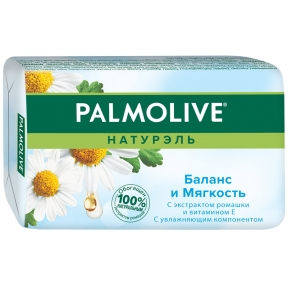 Мыло туалетное Palmolive, Баланс и мягкость, Ромашка и витамин Е, 90г (310516)