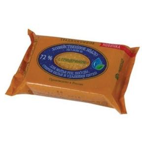 Мыло хозяйственное 72%, 150 г, ЭФКО, Традиционное, с глицерином, в упаковке (601111)