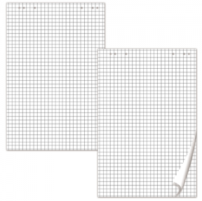 Блокноты для флипчарта BRAUBERG, 20 л., клетка, 67,5×98 см, 80 г/м