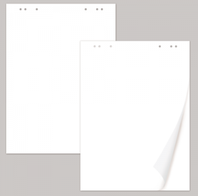 Блокноты для флипчарта BRAUBERG, 20 л., чистые, 67,5×98 см, 80 г/м
