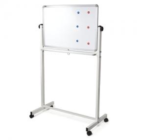 Доска магнитно-маркерная BRAUBERG 2-сторонняя, 60×90 см, передвижная, улучшенная алюминиевая рамка(231717)