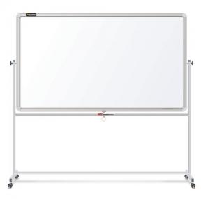 Доска магнитно-маркерная BRAUBERG 2-сторонняя, 90×120 см, на стенде, улучшенная алюминиевая рамка (231718)