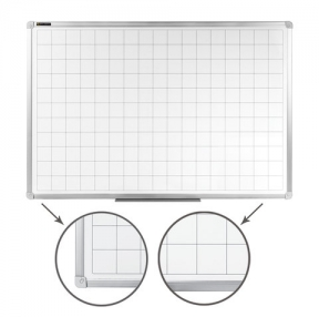 Доска магнитно-маркерная, клетка, BRAUBERG, 60×90 см, алюминиевая рамка