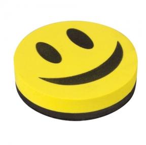 Стиратель магнитный для магнитно-маркерной доски, 90 мм, «Смайлик» (236751)