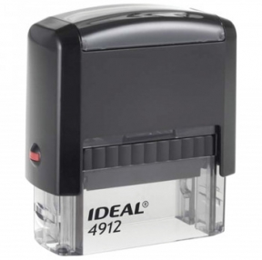Оснастка для штампа, размер оттиска 47×18 мм, синий, TRODAT IDEAL 4912 P2, подушка в комплекте (236843)