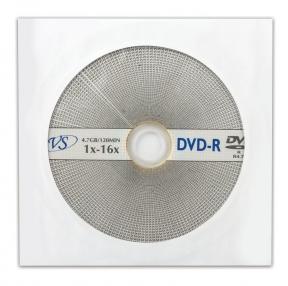 Диск DVD-R VS, 4,7 Gb, 16x, бумажный конверт (511555)