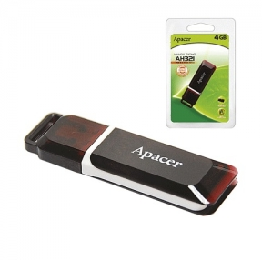 Флэш-диск 4 GB, APACER Handy Steno AH321, USB 2.0,красный