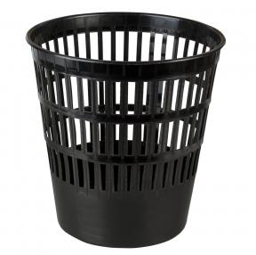 Корзина для бумаг BRAUBERG-MAXI,пластик, 16 л, черная (231165)