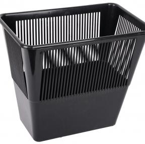 Корзина для бумаг, 12 л, прямоугольная, сетчатая, черная, СТАММ, КР31 (231545)