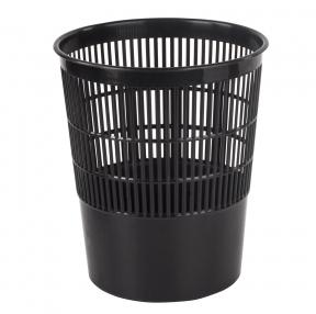 Корзина для бумаг BRAUBERG сетчатая, 14 л, черная (237003)