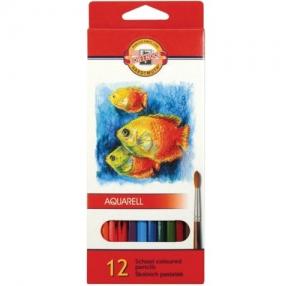 Карандаши цветные акварельные KOH-I-NOOR «Fish», 12 цветов, грифель 3 мм, заточенные