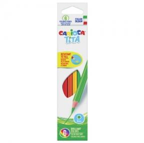 Карандаши цветные CARIOCA «Tita», 6 цветов, пластиковые, грифель 3 мм, шестигранные