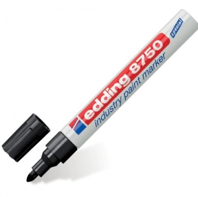 Маркер-краска лаковый (paint marker) EDDING 8750,  2-4 мм, круглый наконечник, черный, алюминиевый корпус (150596)