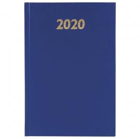 Ежедневник датированный 2020 А5, BRAUBERG, твердая обложка бумвинил, синий, 145×215 мм (110907)