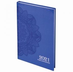 Ежедневник датированный 2021 (145×215 мм), А5, STAFF, ламинированная обложка, Узор, (111816)