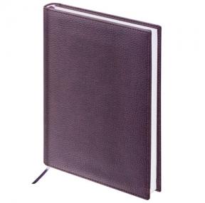 Ежедневник недатированный А5 (138×213 мм) BRAUBERG Favorite, под классическую кожу, 160 л., коричневый (123395)