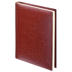 Ежедневник BRAUBERG недатированный, А5, 138×213 мм, «Imperial», под гладкую кожу, 160 л., КОРИЧНЕВЫЙ, кремовый блок (123414)