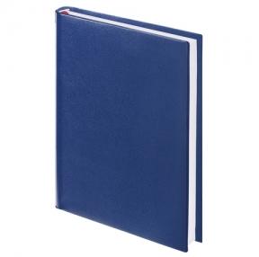 Ежедневник BRAUBERG недатированный, А5, 138×213 мм, «Select», зернистая кожа, 160 л., темно-синий (123430)