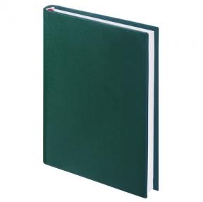 Ежедневник BRAUBERG недатированный, А5, 138×213 мм, «Select», зернистая кожа, 160 л., зеленый (123431)