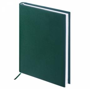 Ежедневник недатированный А5 (138×213 мм) BRAUBERG Select, балакрон, 160 л., зеленый (123431)