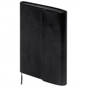 Ежедневник недатированный А5 (148×218 мм) GALANT Black, 160 л., под гладкую кожу, магнитный клапан, черный (126272)
