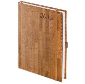 Ежедневник датированный 2019, А6, BRAUBERG «Wood», благородное дерево, коричневый, 100×150 мм (129006)