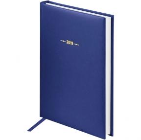 "Ежедневник датированный 2019г., A5, 176л., балакрон, OfficeSpace ""Ariane"", синий (257393)"