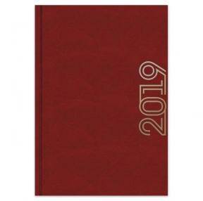 Ежедневник датированный 2019, БОРДО,А5, 7Б бумвинил, 320 стр, тиснение (47773)