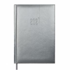 Ежедневник датированный 2021 А5 ГРАФИТОВЫЙ САРИФ-ЭКОНОМ (кожзам,146*211мм 176л тверд.переплет с поролоном, офсет 70г/м2)(52320)