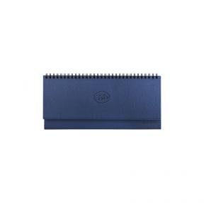 Планинг настольный датированный 2020, BRAUBERG, Favorite, фактурная кожа, темно-синий, 305×140 мм (129762)
