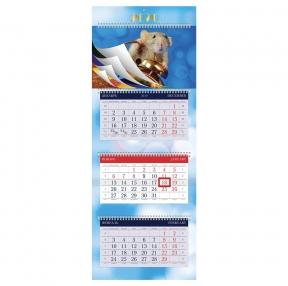 Календарь квартальный 2020 год, «УльтраЛюкс», 3 блока на 4-х гребнях, Знак Года, HATBER (111202)