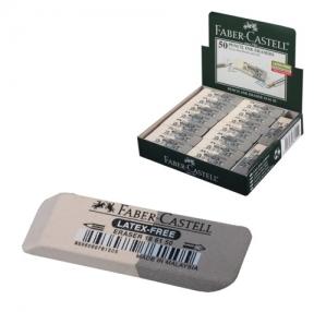 """Резинка стирательная FABER-CASTELL""""7061"""", для карандаша и чернил, двусторонняя, каучук, серо-белая"""