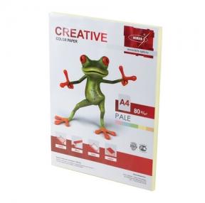 Бумага CREATIVE color, А4, 80 г/м2, 100 л., пастель желтая